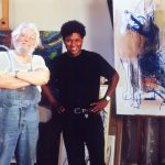 O artista português Júlio Pomar e Renato Rodyner