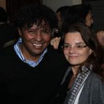 Renato Rodyner e a jornalista Moema Silva